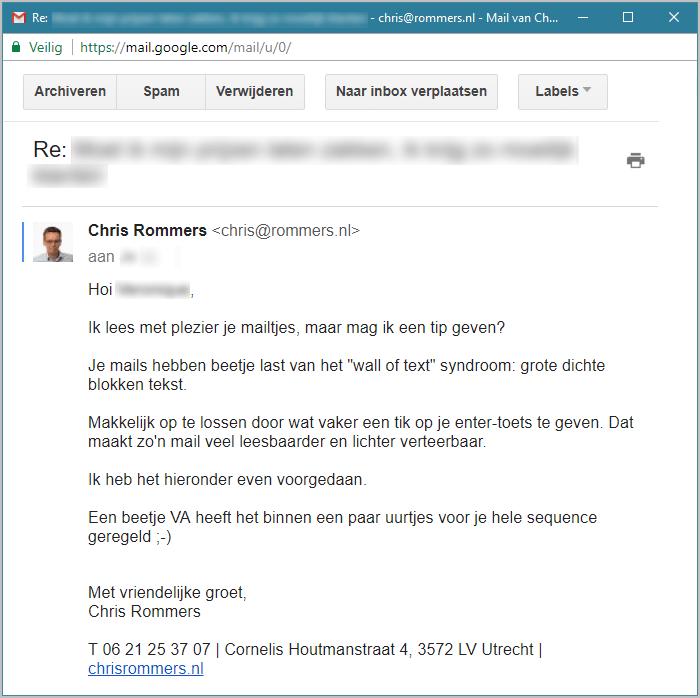 Voorbeeld koude acquisitie email
